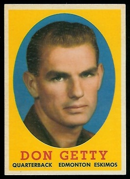 1958 Topps CFL #16 - Don Getty - nm