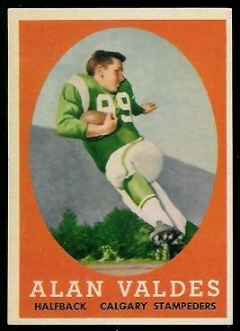 1958 Topps CFL #19 - Alan Valdes - exmt
