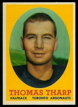 1958 Topps CFL #31 - Corky Tharp - exmt