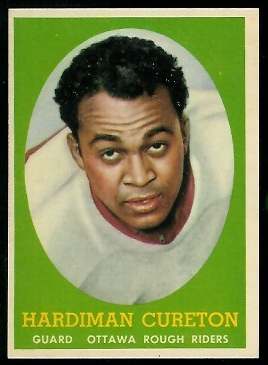 1958 Topps CFL #33 - Hardiman Cureton - nm