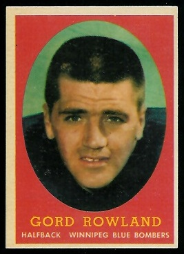 1958 Topps CFL #36 - Gord Rowland - exmt