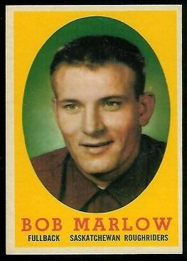 1958 Topps CFL #4 - Bob Marlow - exmt