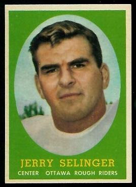 1958 Topps CFL #43 - Jerry Selinger - nm