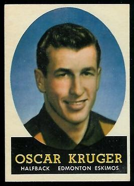 1958 Topps CFL #44 - Oscar Kruger - nm