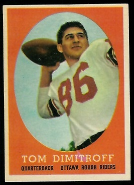 1958 Topps CFL #47 - Tom Dimitroff - exmt