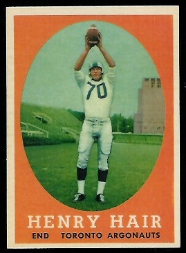 1958 Topps CFL #50 - Henry Hair - nm+