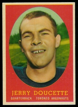 1958 Topps CFL #52 - Jerry Doucette - nm+