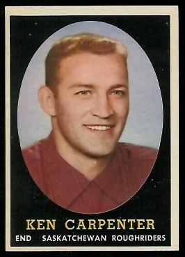 1958 Topps CFL #53 - Ken Carpenter - ex