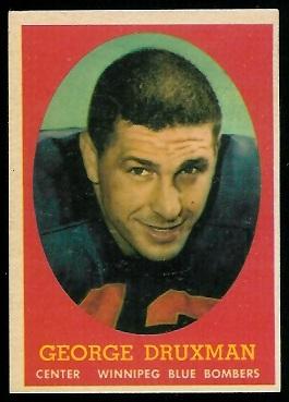 1958 Topps CFL #56 - George Druxman - exmt