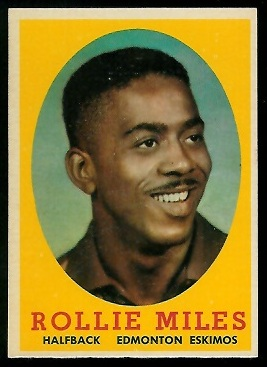 1958 Topps CFL #57 - Rollie Miles - nm