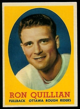 1958 Topps CFL #63 - Ron Quillian - exmt