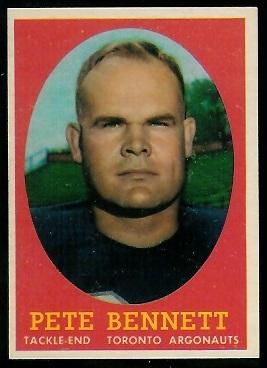 1958 Topps CFL #69 - Pete Bennett - nm