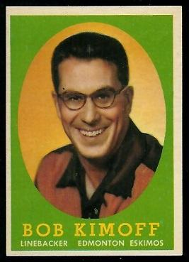 1958 Topps CFL #75 - Bob Kimoff - nm