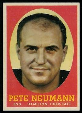 1958 Topps CFL #77 - Pete Neumann - exmt