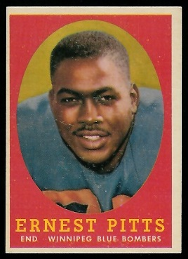 1958 Topps CFL #78 - Ernie Pitts - ex