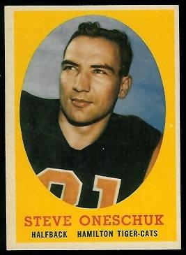 1958 Topps CFL #79 - Steve Oneschuk - ex