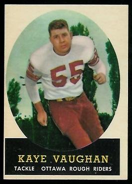 1958 Topps CFL #80 - Kaye Vaughan - exmt