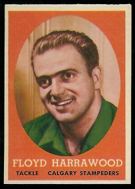 1958 Topps CFL #85 - Floyd Harrawood - nm