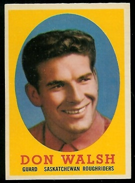 1958 Topps CFL #9 - Don Walsh - nm