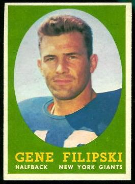 1958 Topps #1 - Gene Filipski - exmt