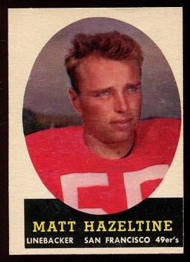 1958 Topps #100 - Matt Hazeltine - nm mc