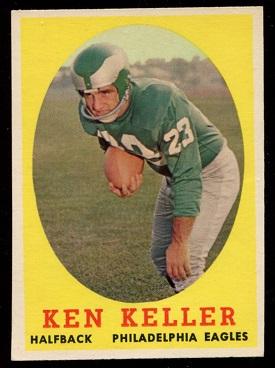 1958 Topps #108 - Ken Keller - exmt