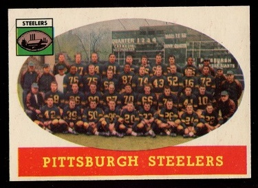 1958 Topps #116 - Pittsburgh Steelers Team - exmt