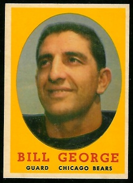 1958 Topps #119 - Bill George - nm