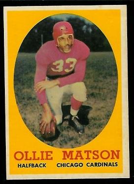 1958 Topps #127 - Ollie Matson - nm