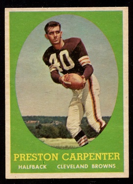 1958 Topps #128 - Preston Carpenter - nm