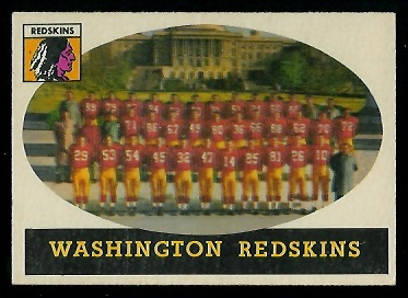 1958 Topps #27 - Washington Redskins Team - ex