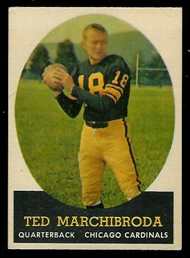 1958 Topps #44 - Ted Marchibroda - exmt