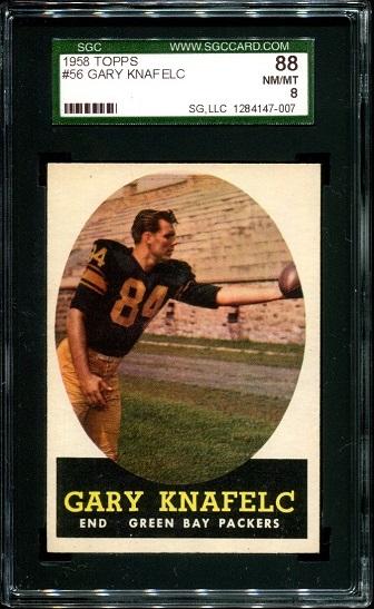 1958 Topps #56 - Gary Knafelc - SGC 88
