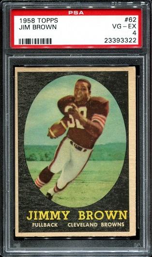 1958 Topps #62 - Jim Brown - PSA 4