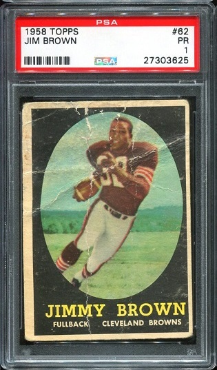 1958 Topps #62 - Jim Brown - PSA 1