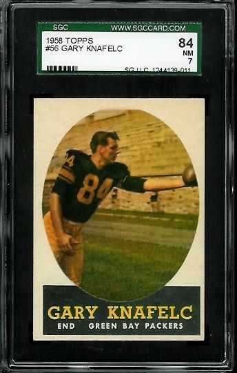 1958 Topps #56 - Gary Knafelc - SGC 84