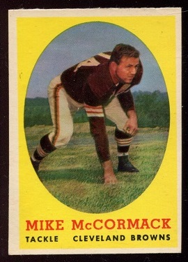 1958 Topps #59 - Mike McCormack - exmt