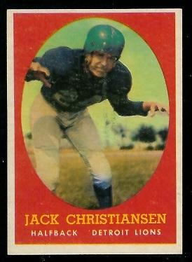1958 Topps #70 - Jack Christiansen - ex