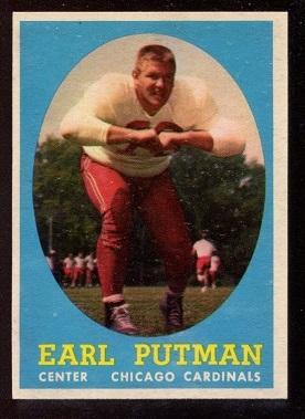 1958 Topps #88 - Earl Putman - nm