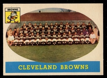 1958 Topps #9 - Cleveland Browns Team - exmt