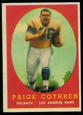 1958 Topps #92 - Paige Cothren - exmt