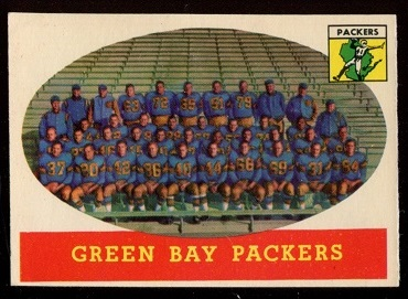 1958 Topps #96 - Green Bay Packers Team - exmt