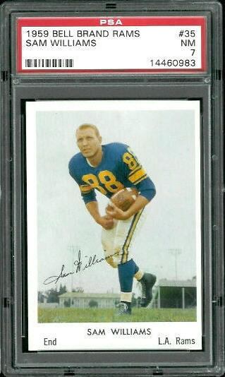 1959 Bell Brand Rams #35 - Sam Williams - PSA 7
