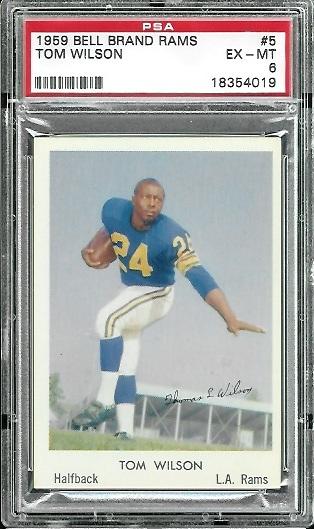 1959 Bell Brand Rams #5 - Tom Wilson - PSA 6