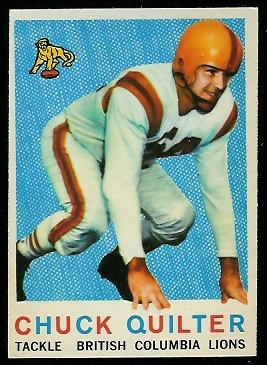 1959 Topps CFL #10 - Chuck Quilter - exmt