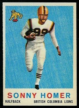 1959 Topps CFL #13 - Sonny Homer - nm