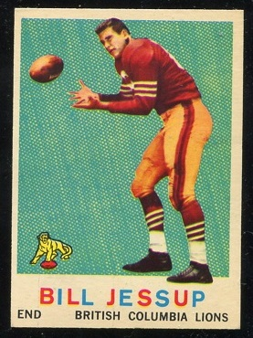 1959 Topps CFL #14 - Bill Jessup - exmt