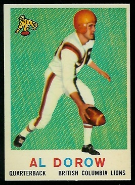 1959 Topps CFL #15 - Al Dorow - nm+