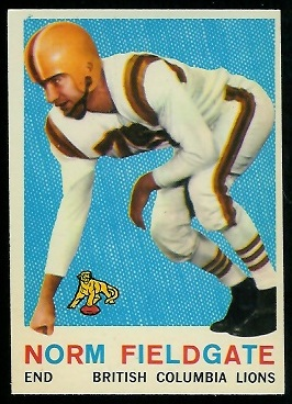 1959 Topps CFL #16 - Norm Fieldgate - nm
