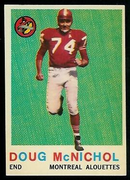 1959 Topps CFL #32 - Doug McNichol - nm